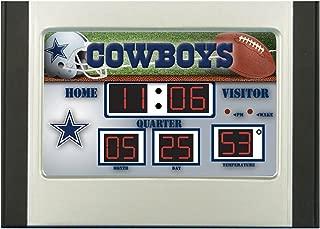 Team Sports America NFL Dallas Cowboys Scoreboard Desk Clock, Small, Multicolor