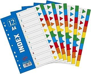 5 Pièces Intercalaires,Intercalaires A4 Extra Larges,Intercalaires Couleur Avec Page,pour Étiquette Couleur Classification...