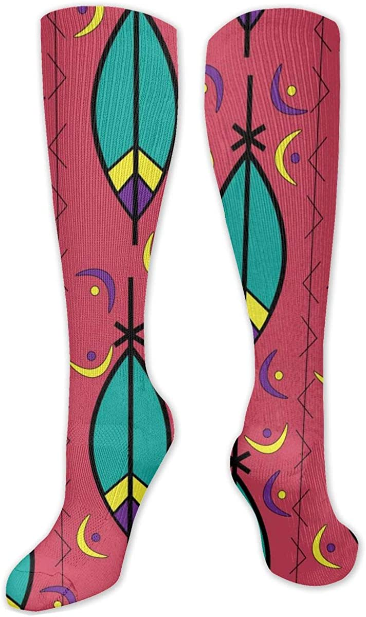Leaf Art Knee High Socks Leg Warmer Dresses Long Boot Stockings For Womens Cosplay Daily Wear