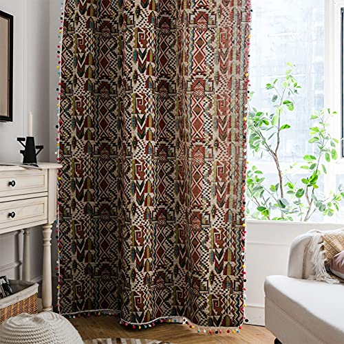 1 pezzo di colore distintivo tende semi-oscurante per finestra per soggiorno camera da letto, stile gancio 59 'W x 78,7' L (150x200cm)
