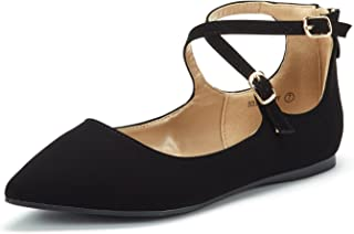 Women's Ankle Straps Marry Jane Ballerina Flat Shoes