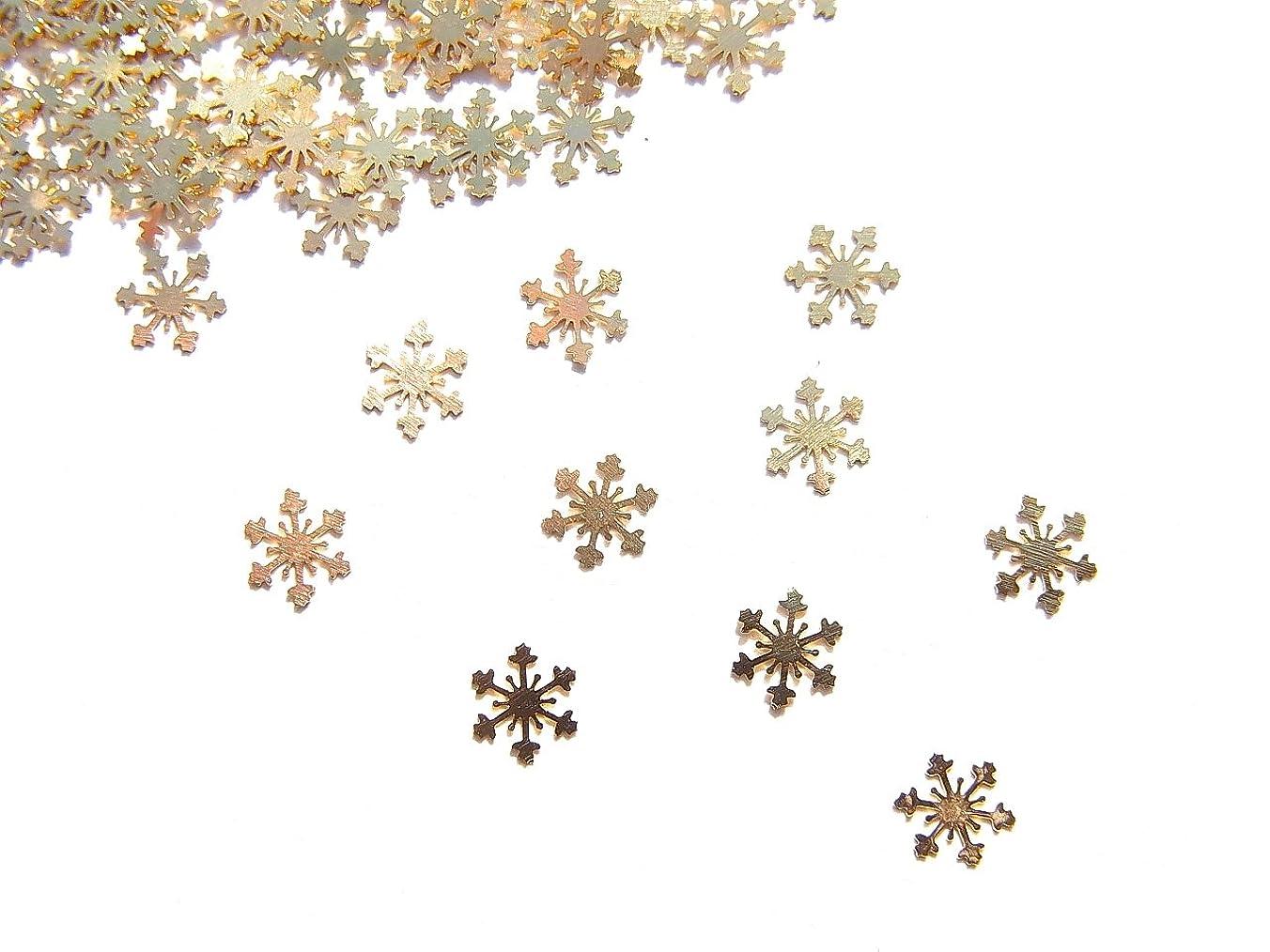 感情めんどり投票【jewel】薄型ネイルパーツ ゴールド 結晶10個