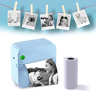 EBSTL Mini Pocket Photo Printer for iPhone Android Pocket Printer Label Printer Portable Bluetooth Picture Thermal Printer...