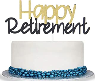 Colorful Happy Retirement Cake Topper -Retirement Party Supplies Favors, Gifts and Decorations