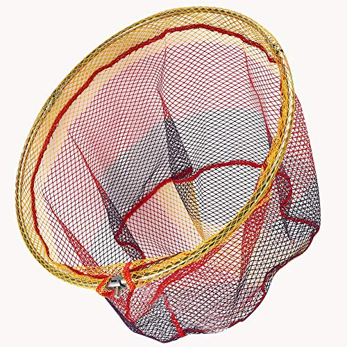 AAAGX Red De Pesca Portátil Flotante Red De Aterrizaje para Pesca Captura De Peces Liberando Aparejos De Pesca Accesorio De Color