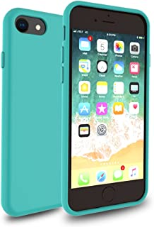 iPhone 8 7 Case, DragonFruitee iPhone 8 Case Clear/iPhone 7 Case [Full TPU Cushion] [Raised Lip] [Corner Reinforcement Protection] [Scratch Resistant] for Apple iPhone8/iPhone7 2016 2017-Turquoise