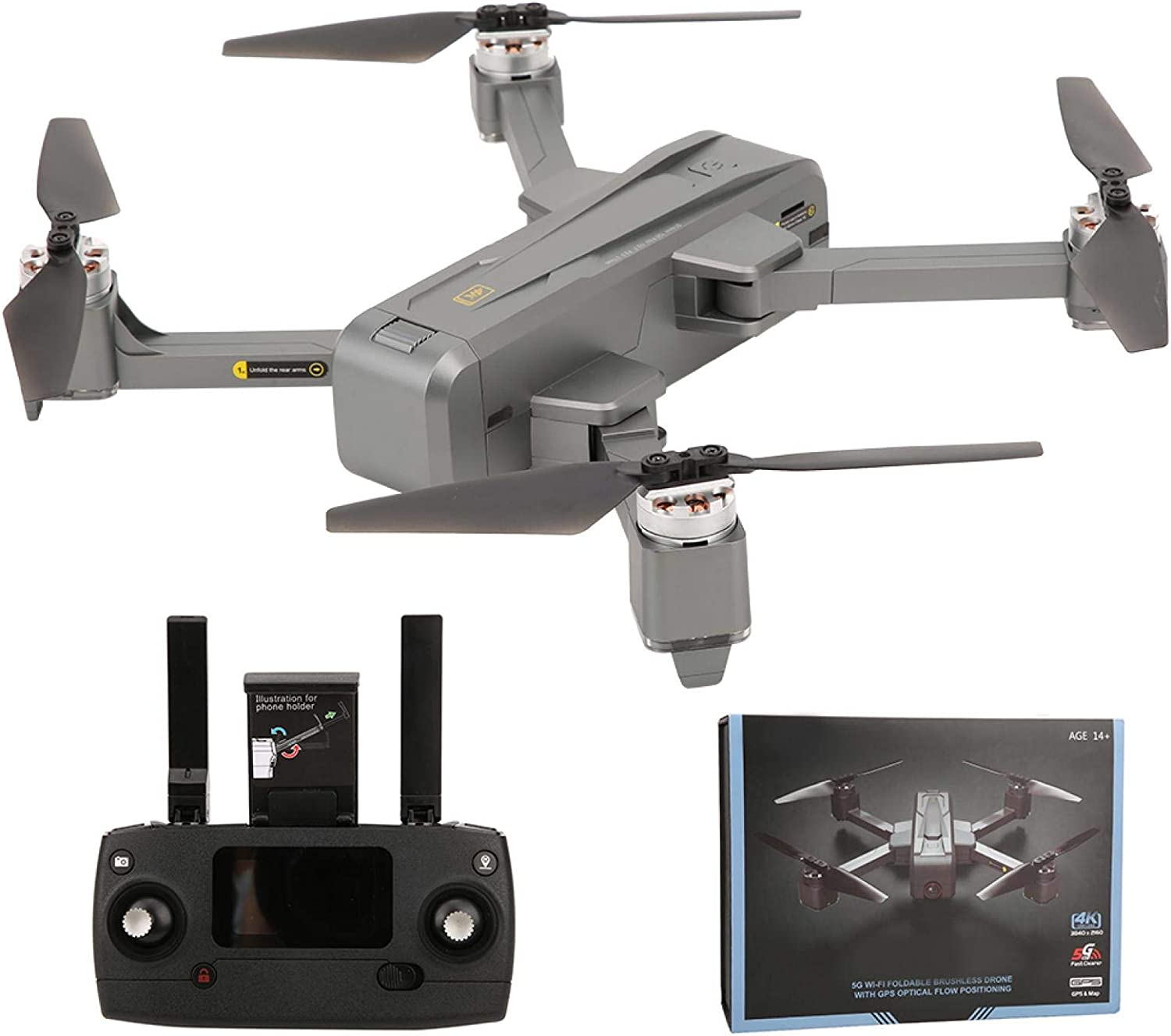 Demeras High Definition Easy-to-use Camera Max 67% OFF Brushless Beginners Drone a Motor