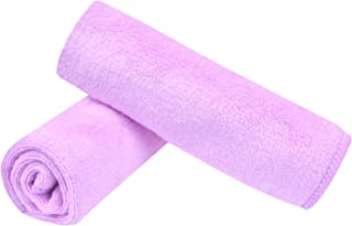 Sinland Microfiber Facial Cloths Fast Drying Washcloth 12inch x 12inch Light purple 2 pack