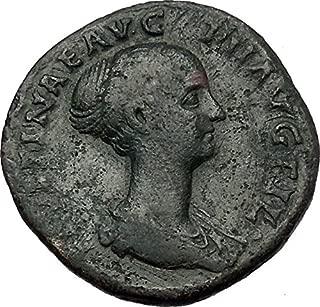 1000 IT FAUSTINA II Marcus Aurelius Wife Sestertius Ancie coin Good