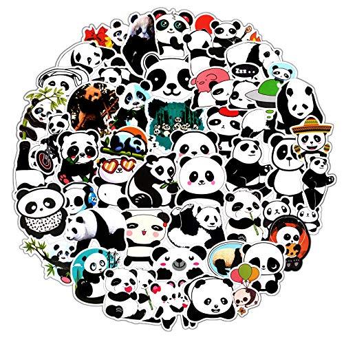 EBANKU 100 Stück Panda Aufkleber,Graffiti Vinyl Laptop Wasserflasche Aufkleber für Skateboard Gepäck Motorrad Fahrrad Snowboard Wasserdicht Aufkleber