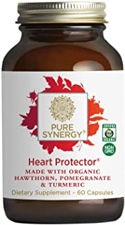 Pure Synergy Organic Heart Protector (60 Capsules) Complete Heart Supplement w/ Hawthorn, Curcumin, Nattokinase