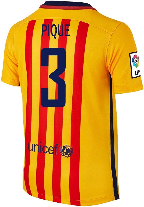 SKU Pique  3 Barcelona Away Soccer Jersey 2015 (L)