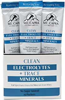 Mt. Capra Clean Electrolytes + Trace Minerals | A Multimineral Supplement with Key Electrolytes Potassium, Sodium, Magnesi...