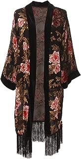 Best black velvet floral kimono Reviews