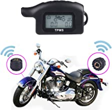 B-Qtech Motorcycle Tire Pressure Monitoring System, Carry Freescale chip,Portable, Waterproof 2 External Sensor TPMS Digital LCD Display for Motorcycle.