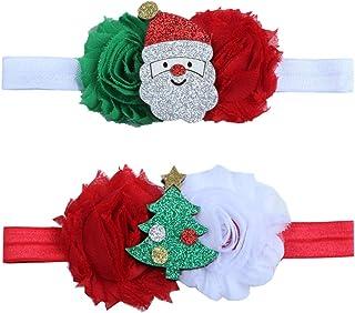 Baby Girl Headband with Bow Elastic Hair Band Hair Accessory for Christmas SJR04