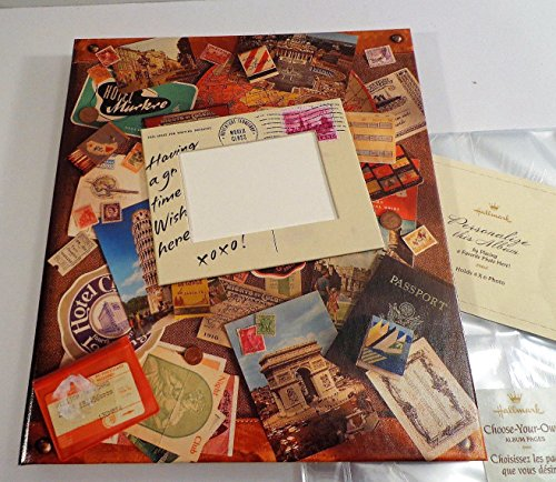 Hallmark Photo Album Scrapbook Large NEW Travel Vacation w/ Refill Pages & Posts