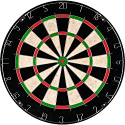 Bristle Dart Board, Tournament Sized Indoor Hanging Number Target Game for Steel Tip Darts- Dartboard with Mounting Hardware by Hey! Play!