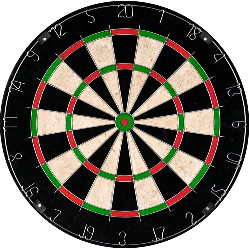 Bristle Dart Board, Tournament Sized Indoor Hanging Number Target Game for Steel Tip Darts-...