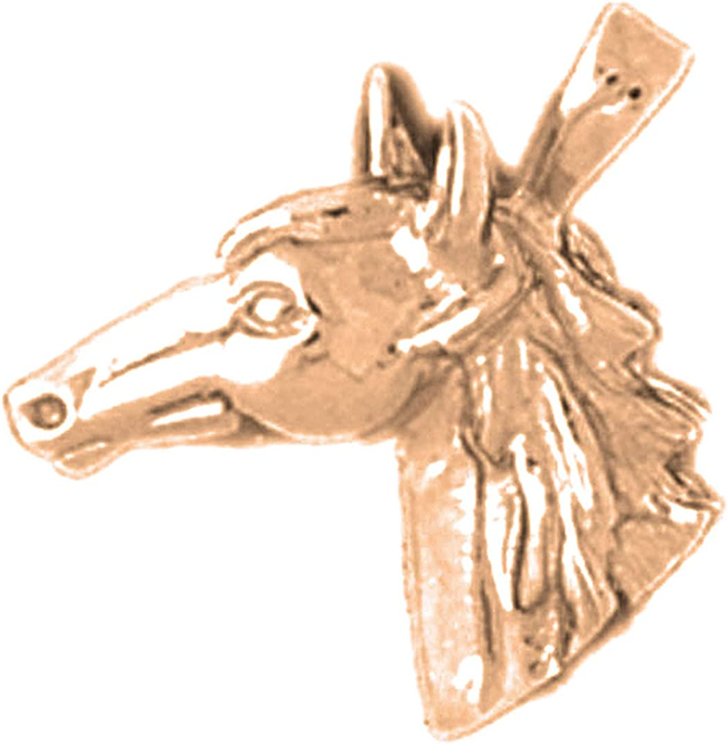 Jewels Obsession Max 45% OFF Horse Head Gold New life 14K Necklace Rose