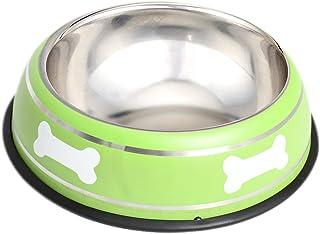 HOUZE OPT-158 Pet Steel Bowl, 22cm, Green