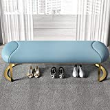 XIAOPENG Taburete Rectangular para Cambiar Zapatos, Mesa de Centro, Taburete de Extremo de Cama, Taburete para sofá, para la Entrada del Dormitorio de la Sala de Estar