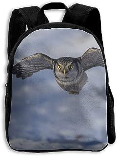 Snown Fat Hawk Owls Printed Oxford School Bag Kid Double Zipper Closure Casual Shoulder Bags