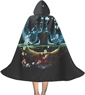 The Last Space Bender Legend of Korra Unisex Kids Hooded Cloak Cape Halloween Xmas Party Decoration Role Cosplay Costumes Black