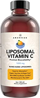 Liquid Liposomal Vitamin C 1000mg Supplement. Better than capsules. Immune Support, Skin Health, Collagen Production. Fast...