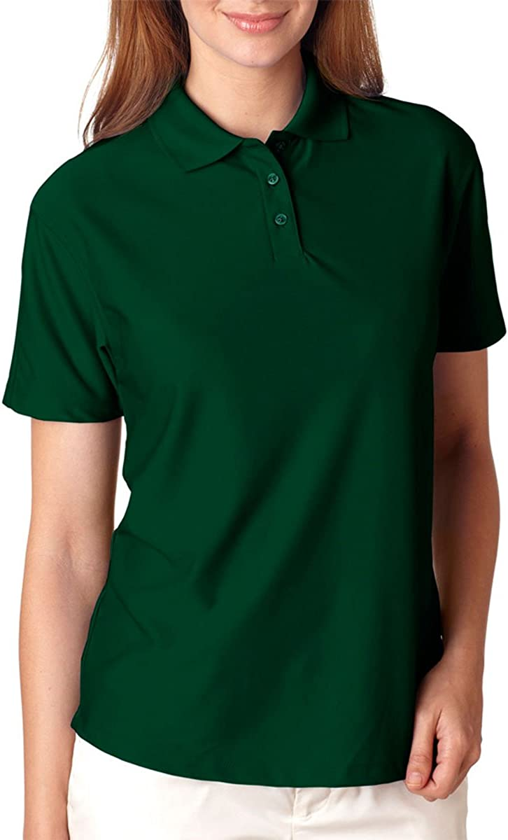 UltraClub Womens Cool & Dry Elite Performance Polo(8414)-Forest Green-L