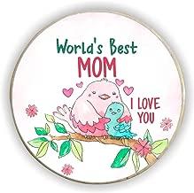 Yaya Cafe World's Best Mom Fridge Magnet - Round