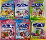 Hi Chew 6 Different Flavors Variety Pack (Tropical Mix, Sours, Strawberry, Original Mix, and Yogurt) (Pack of 6)