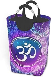 Liumt Panier à Linge Diwali Om Symbole Mandala Rond Reilgion Panier à Linge Sale vêtements Sac Arc-en-Ciel échelles Pliabl...
