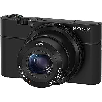 """Sony DSC-RX100 - Cámara compacta (Sensor CMOS Exmor R 1.0 de 20.1 MP, F1.8-4.9, zoom 28-100, zoom óptico 3,6x, pantalla LCD de 3"""", estabilizador de imagen), negro"""