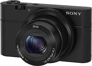 Sony DSC-RX100 - Cámara compacta (Sensor CMOS Exmor R 1.0 de 20.1 MP F1.8-4.9 zoom 28-100 zoom óptico 36x pantalla LCD de 3 estabilizador de imagen) negro