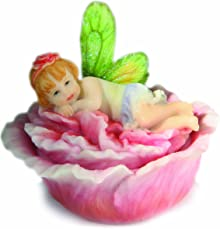 Pacific Giftware Misty Hibiscus Flitterbyes Butterfly Fairy Trinket Box By Kathleen Francour