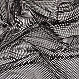 Fabric Styles Airtex FS002 Stoff mit Ösen, Schwarz,