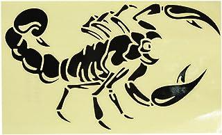 sourcing map 2Stk Skorpion Muster Selbstklebende Auto Reflektierende Folie Aufkleber Schwarz DE de