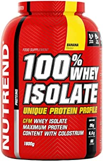 Nutrend 100% Isolate whey Protein Powder Strawberry 1800g Diet Weight-loss (WPI) amino acids (BCAA), low sugar, CFM method