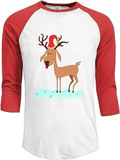 J-OOP Cartoon Reindeer Art Men's Half Sleeve T-shirts