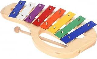 comprar comparacion ammoon Madera de Pino-Xilófono Nota 8, base de aluminio con asa lazos, mazo de madera de palo exquisita Percussion Toddle ...