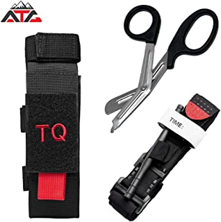 ATG Tactical Tourniquet & Trauma Medical Shear Pouch MOLLE PALS Duty Belt Loop EMT EMS
