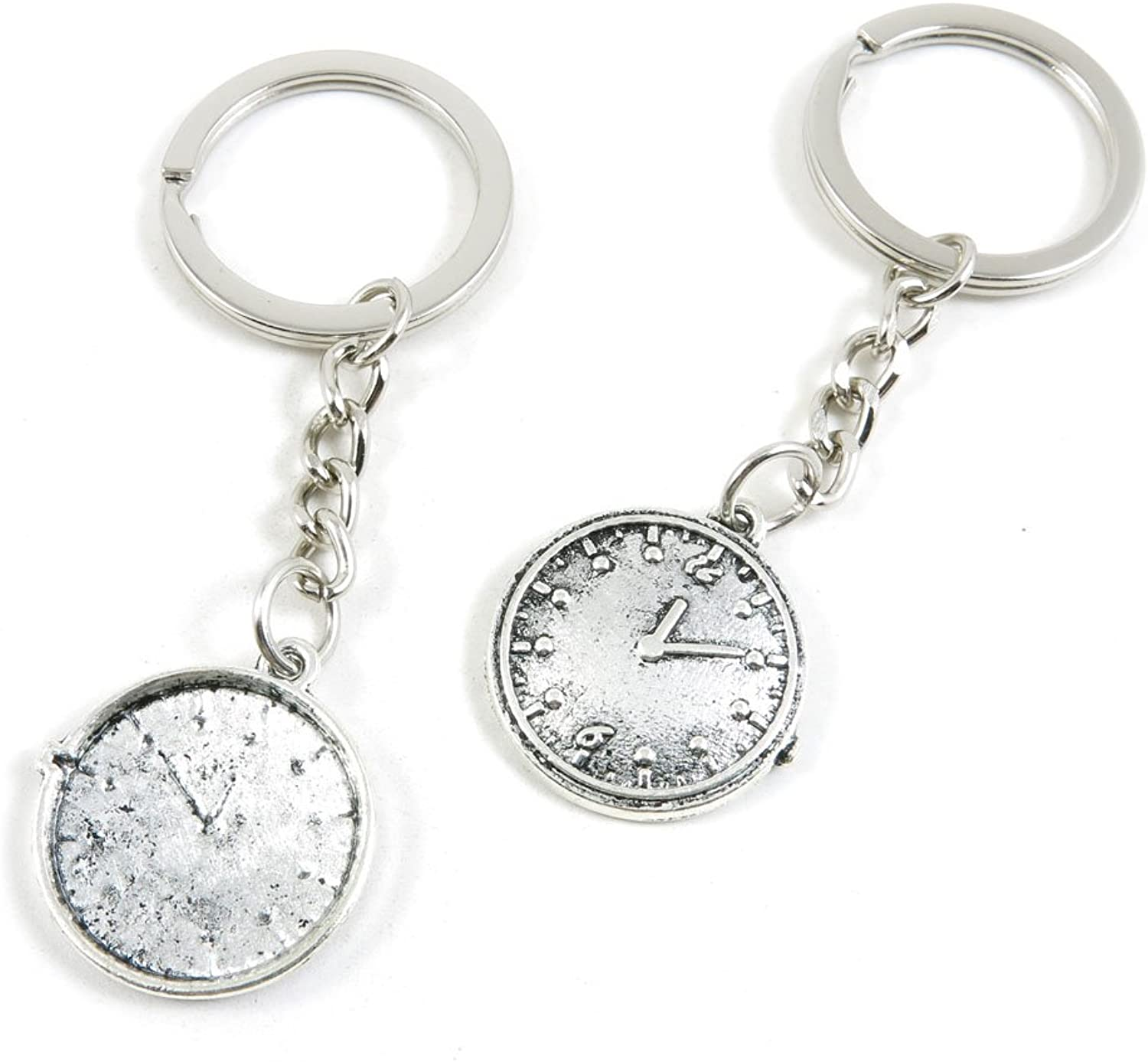 180 Pieces Fashion Jewelry Keyring Keychain Door Car Key Tag Ring Chain Supplier Supply Wholesale Bulk Lots Z6TR6 Time Clock