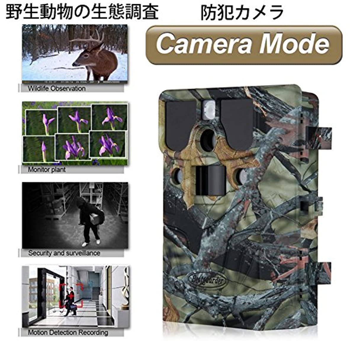 十代の若者たち決定的外部[Origin] 1200万画素 夜間カラー撮影 無線トレイルカメラ 日本語システム 940nm不可視赤外線 防水 連写機能 動物撮影 ハンティングカメラ 野外防犯カメラ SG990V