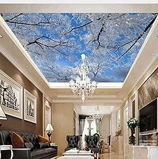 Lifme Custom 3D Photo Wall Paper Hd Invierno Cielo Hielo Árbol De Nieve Paisaje De Fondo Papel Tapiz Sala De Estar Ceiling 3D Mural Wallpaper-350X250Cm