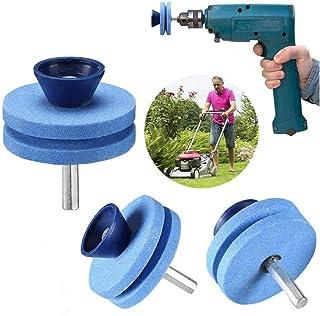 [Upgraded products in 2020] Mower Saw Blade Sharpener Drill Bit attachment, Blunt Blade Sharpener, Blunt Blade Drill Attac...
