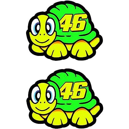 Valentino Rossi adhesivo tortuga 2012 vinilo 5cm x2