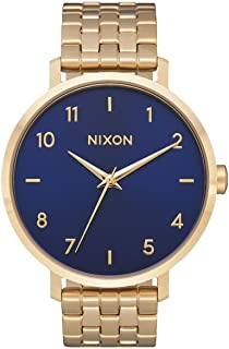 Nixon Women's Arrow Japanese-Quartz Watch with Stainless-Steel Strap, Gold, 17.5 (Model: A1090933)