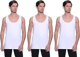 Dice Cotton Round-Neck Sleeveless Solid Undershirt for Men