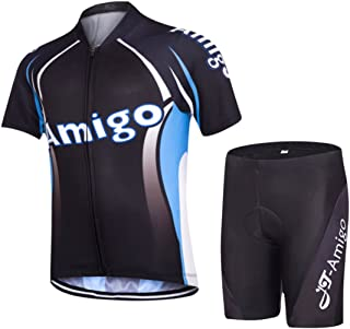 AMIGO JT Kids Cycling Jersey Set (Short Sleeve Jersey + Padded Shorts)
